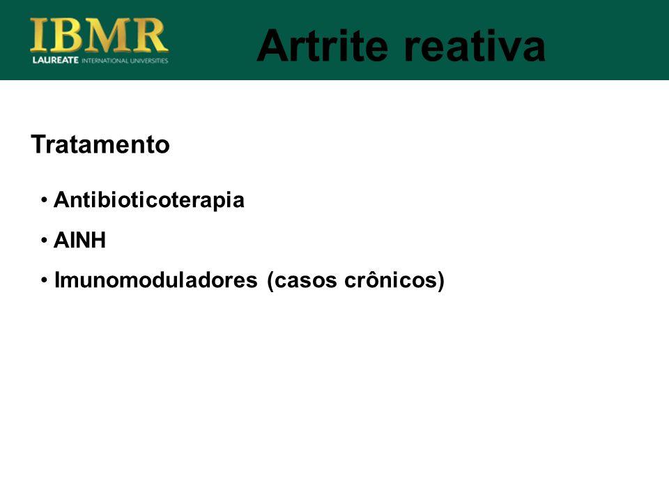 Artrite reativa Tratamento Antibioticoterapia AINH