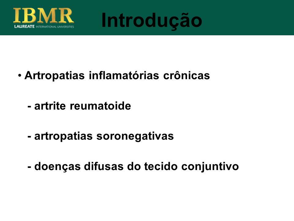 Introdução Artropatias inflamatórias crônicas - artrite reumatoide