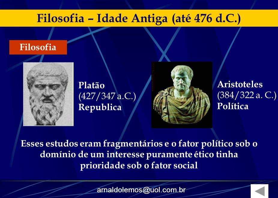 Filosofia – Idade Antiga (até 476 d.C.)