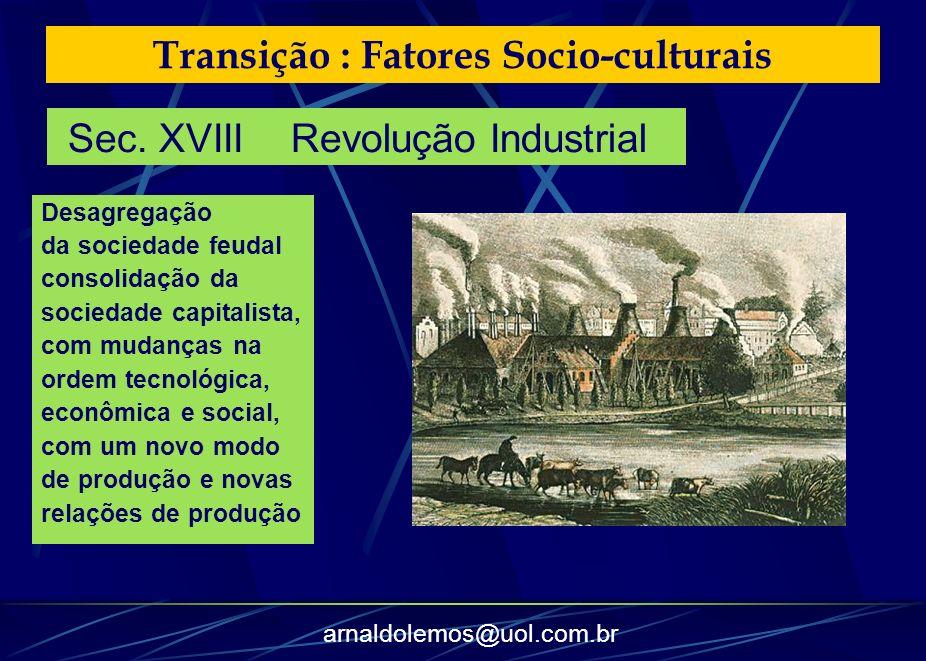 Transição : Fatores Socio-culturais