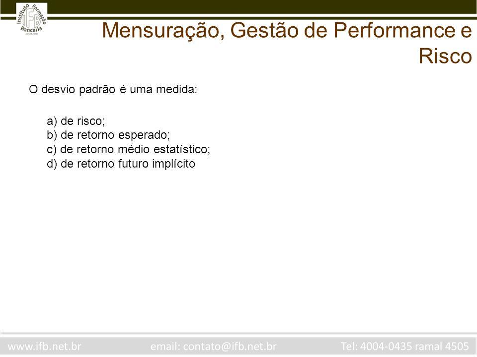 Mensuração, Gestão de Performance e Risco