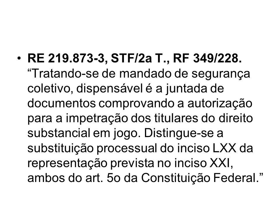 RE 219.873-3, STF/2a T., RF 349/228.