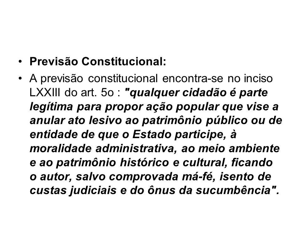 Previsão Constitucional: