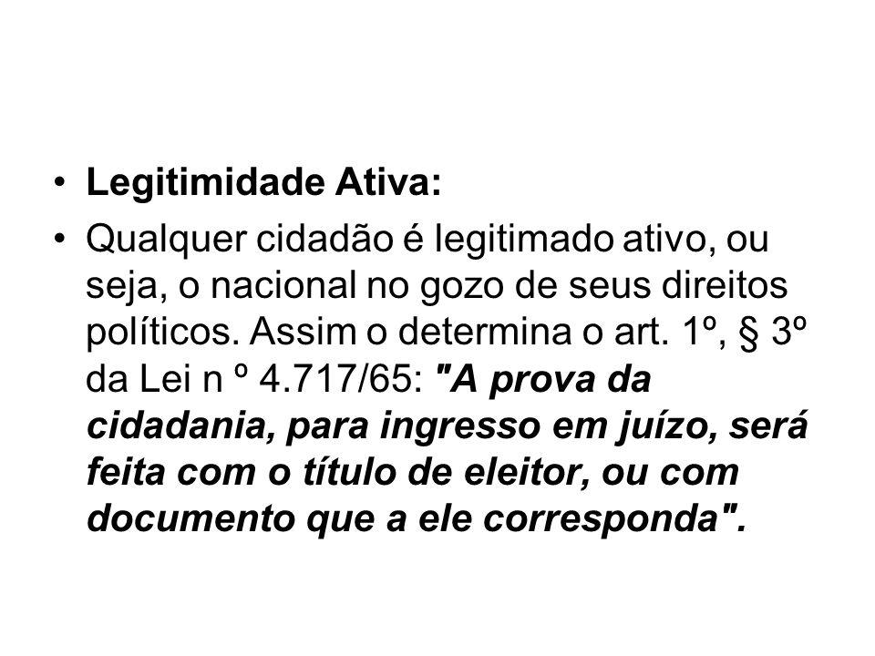 Legitimidade Ativa: