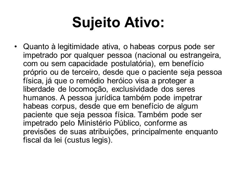 Sujeito Ativo: