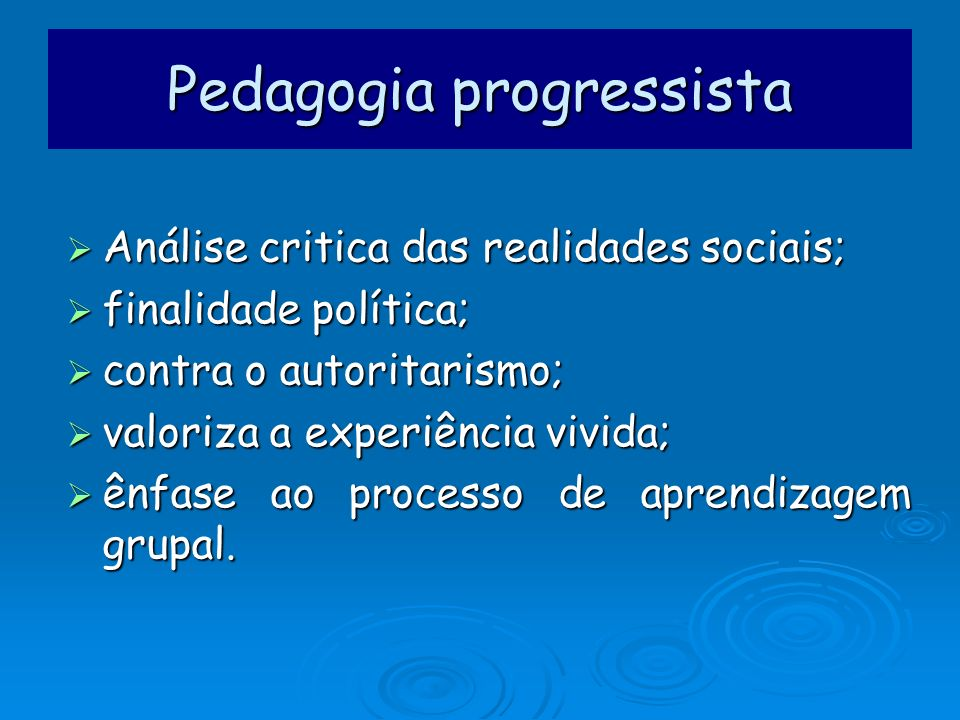 Pedagogia progressista