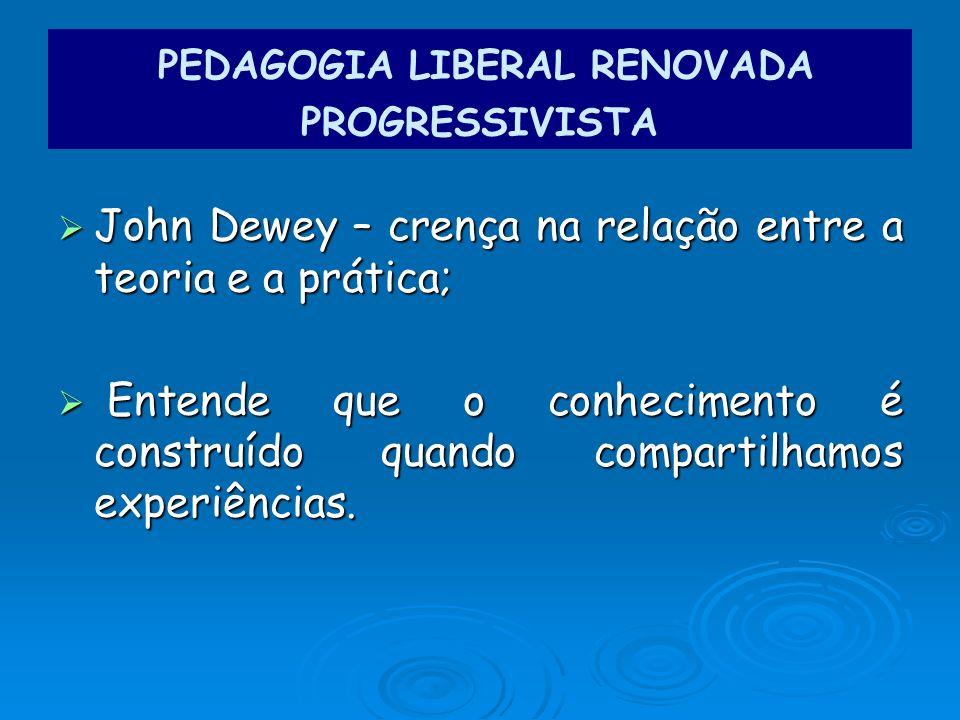 PEDAGOGIA LIBERAL RENOVADA PROGRESSIVISTA