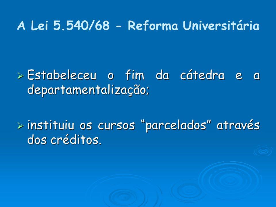 A Lei 5.540/68 - Reforma Universitária