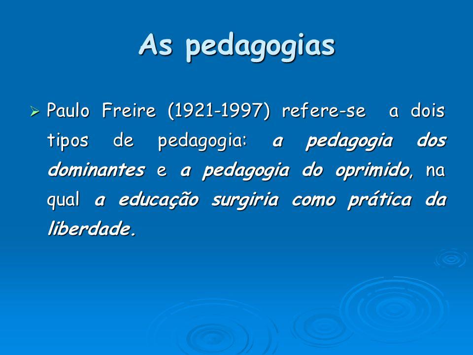 As pedagogias