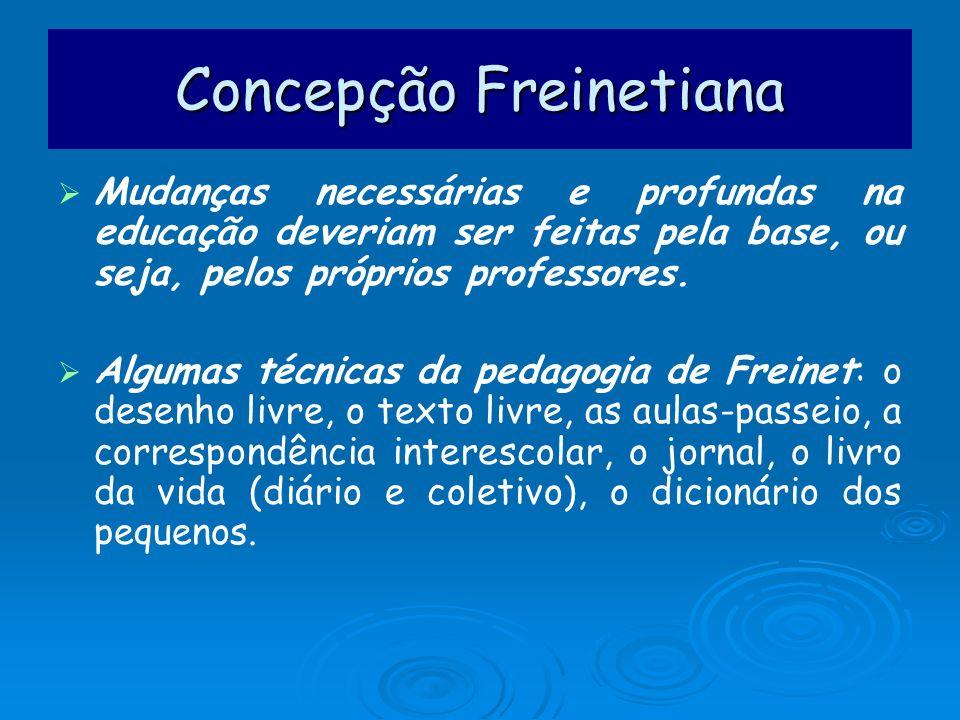Concepção Freinetiana