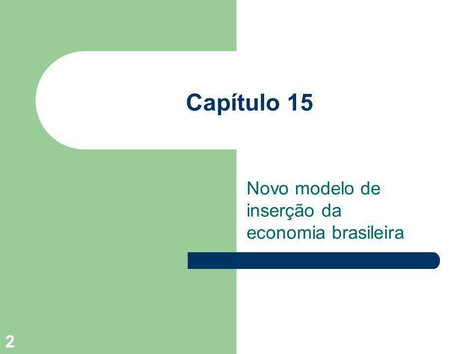 Novo modelo de inserção da economia brasileira