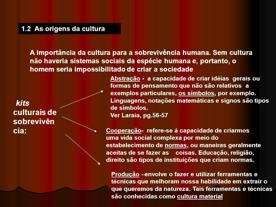kits culturais de sobrevivência: