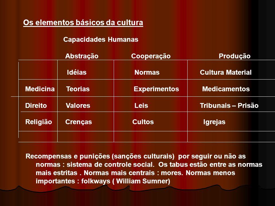 Os elementos básicos da cultura