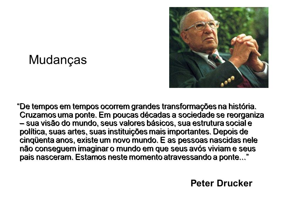 Mudanças Peter Drucker