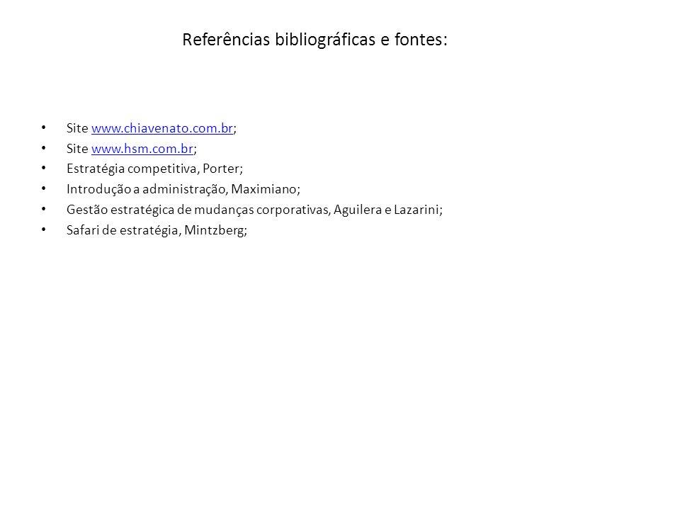 Referências bibliográficas e fontes: