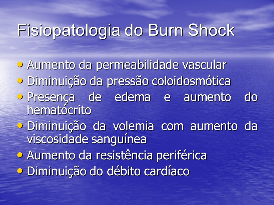 Fisiopatologia do Burn Shock