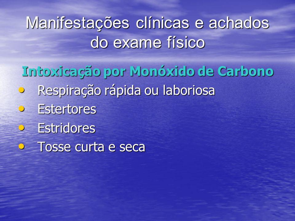 Manifestações clínicas e achados do exame físico
