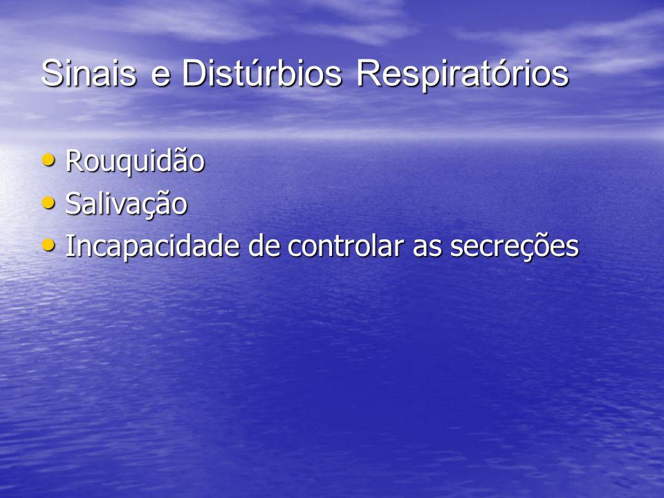 Sinais e Distúrbios Respiratórios