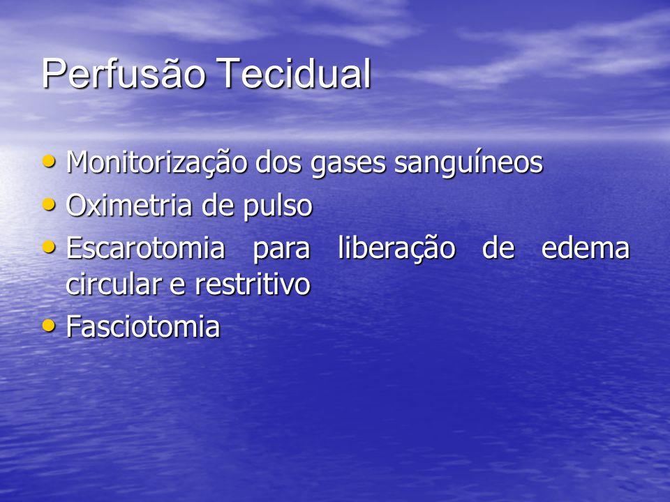 Perfusão Tecidual Monitorização dos gases sanguíneos