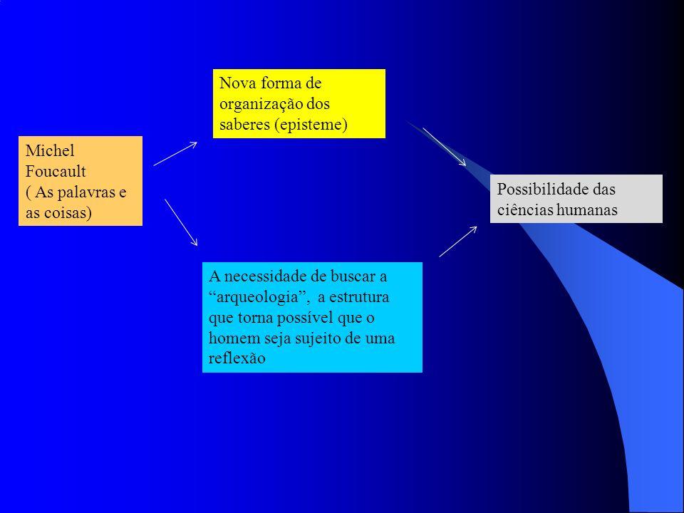 Nova forma de organização dos saberes (episteme)