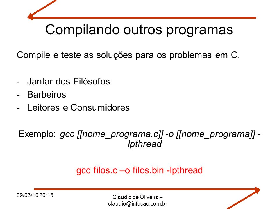 Compilando outros programas