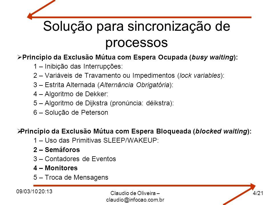 Solução para sincronização de processos