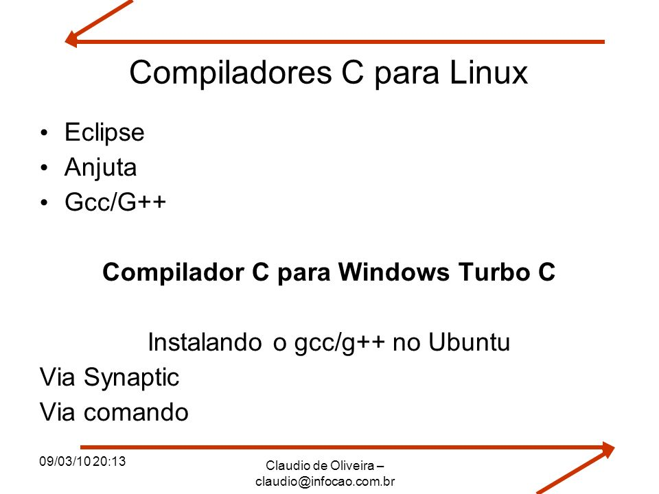 Compiladores C para Linux