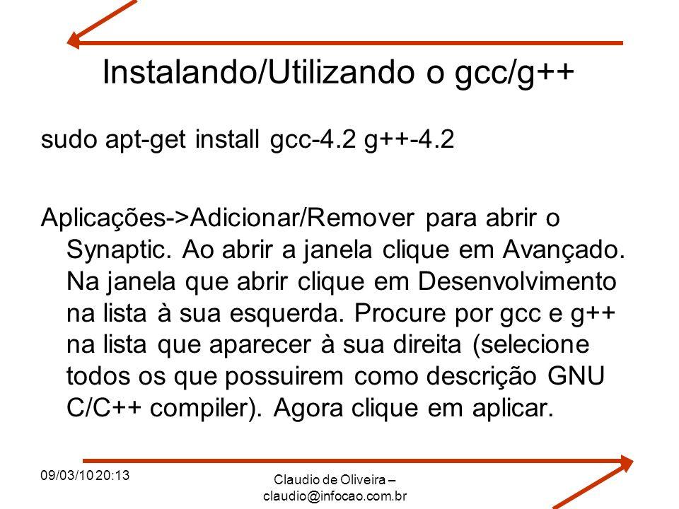 Instalando/Utilizando o gcc/g++