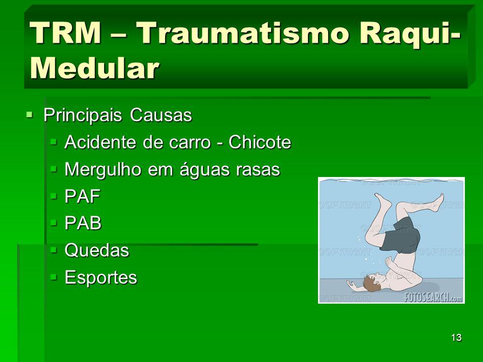 TRM – Traumatismo Raqui-Medular