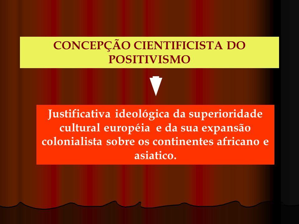CONCEPÇÃO CIENTIFICISTA DO POSITIVISMO