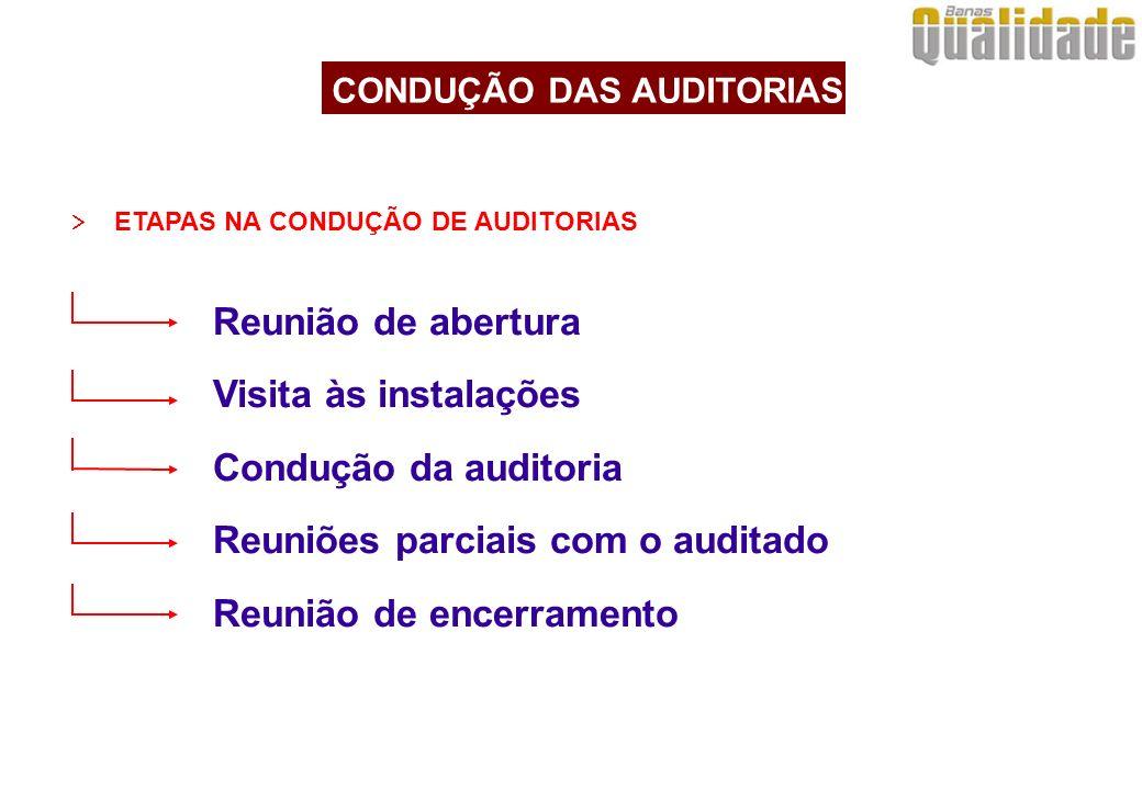 CONDUÇÃO DAS AUDITORIAS