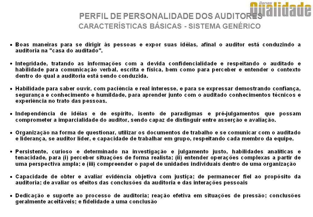 PERFIL DE PERSONALIDADE DOS AUDITORES