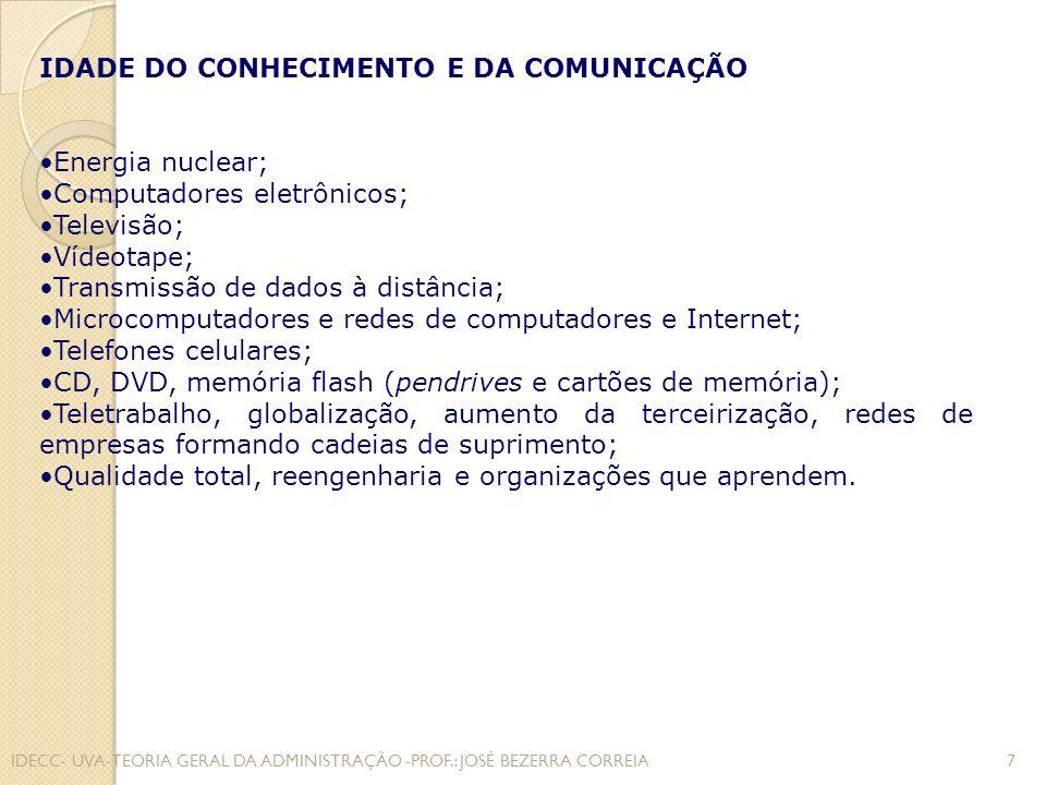 IDADE DO CONHECIMENTO E DA COMUNICAÇÃO