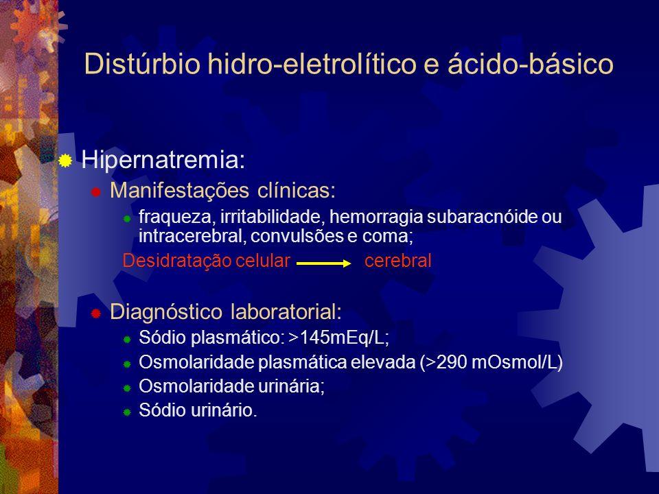 Distúrbio hidro-eletrolítico e ácido-básico