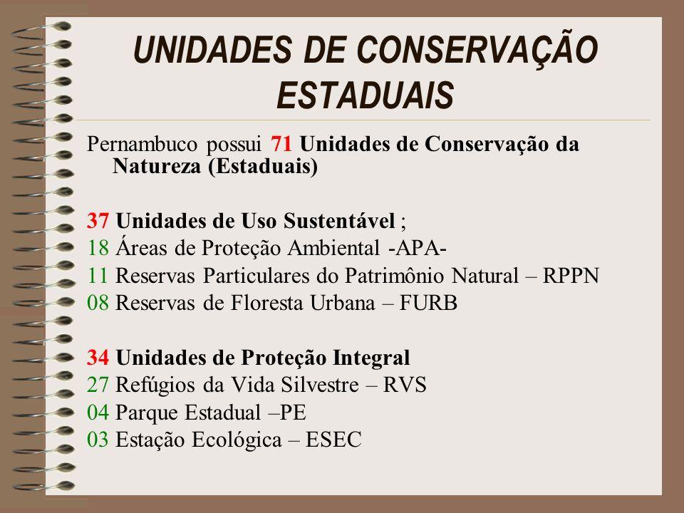 UNIDADES DE CONSERVAÇÃO ESTADUAIS
