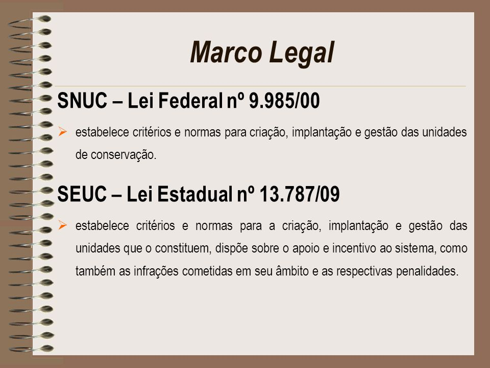 Marco Legal SNUC – Lei Federal nº 9.985/00
