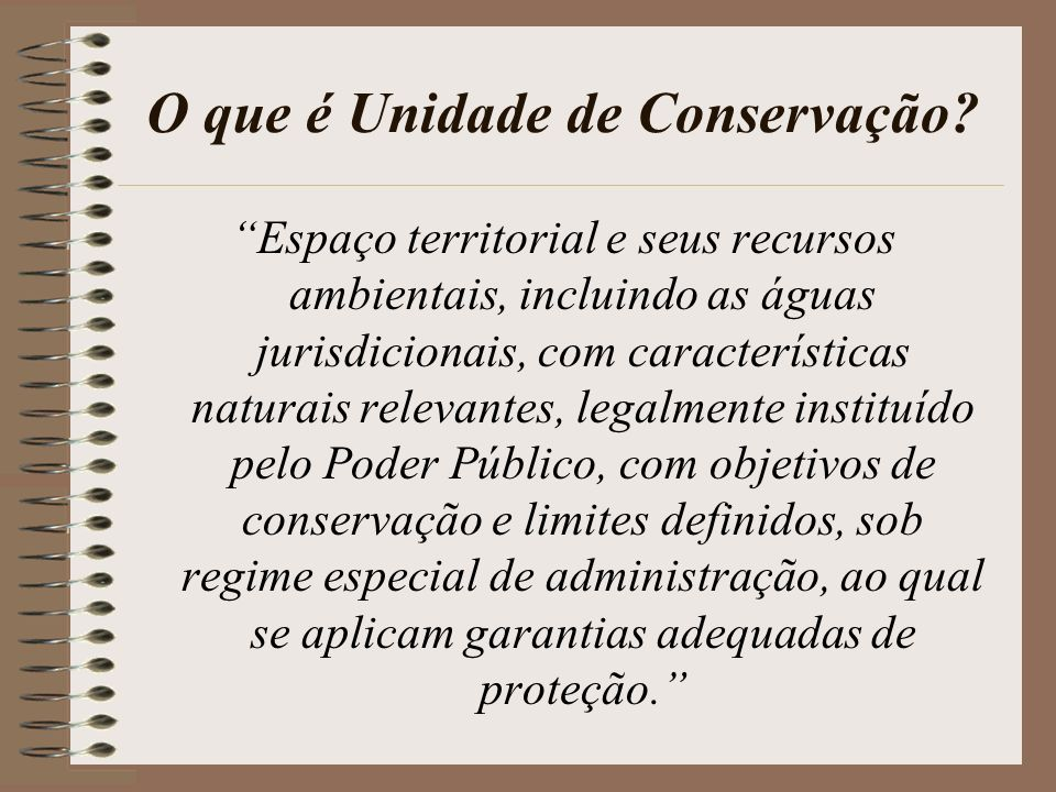 O que é Unidade de Conservação