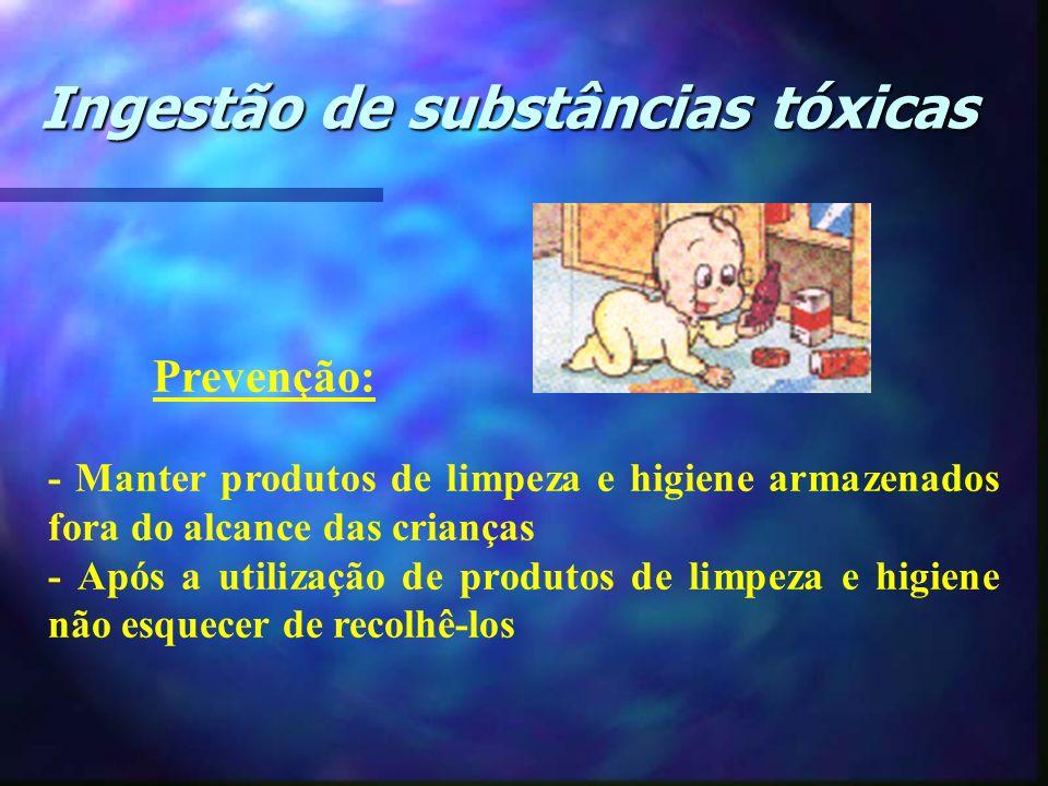Ingestão de substâncias tóxicas