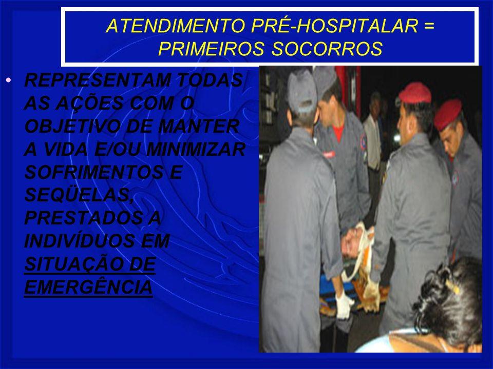 ATENDIMENTO PRÉ-HOSPITALAR = PRIMEIROS SOCORROS