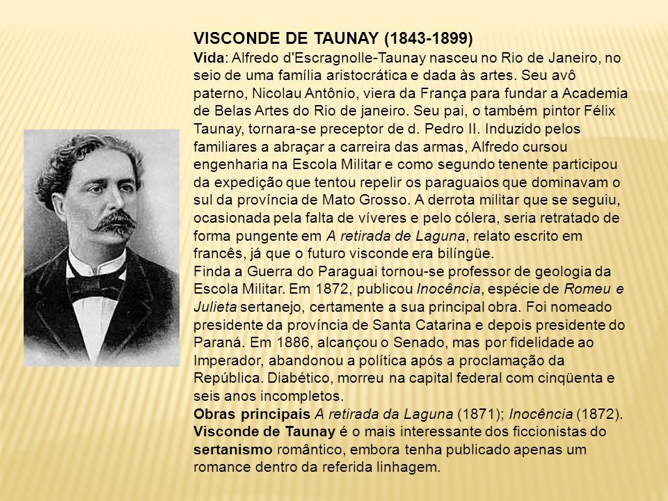 VISCONDE DE TAUNAY (1843-1899)