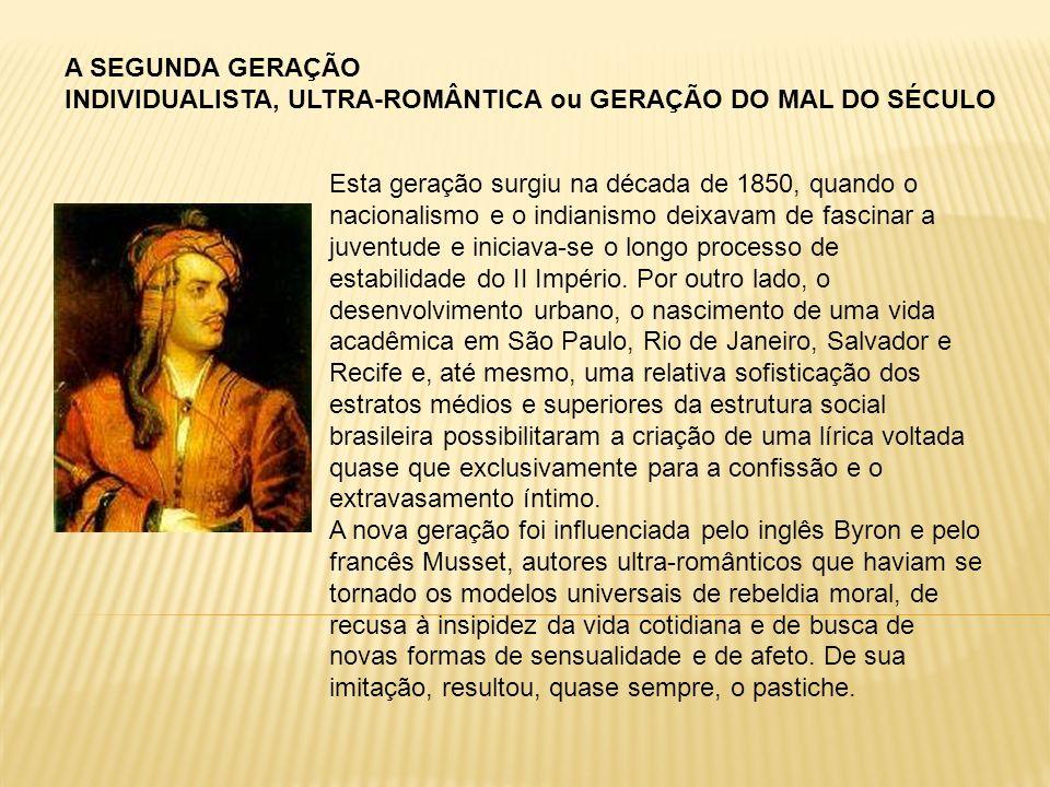 A SEGUNDA GERAÇÃO INDIVIDUALISTA, ULTRA-ROMÂNTICA ou GERAÇÃO DO MAL DO SÉCULO