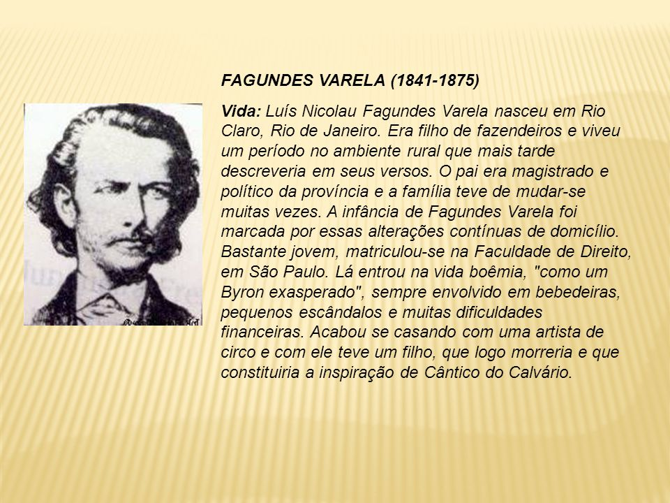 FAGUNDES VARELA (1841-1875)