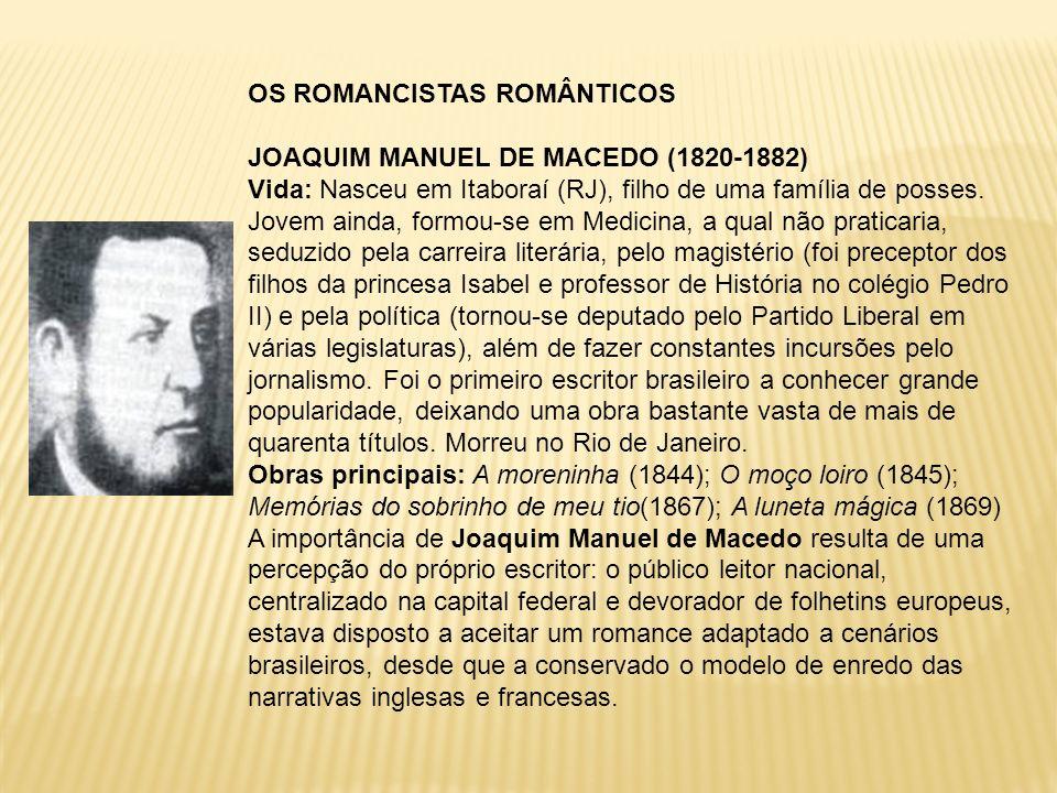 OS ROMANCISTAS ROMÂNTICOS