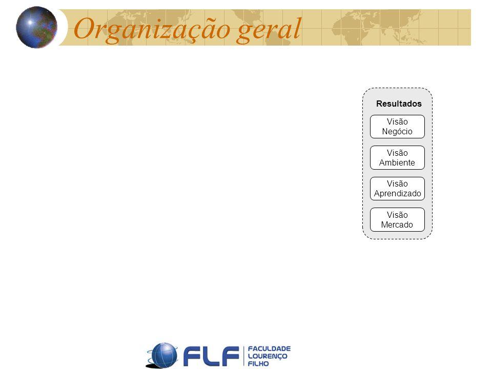 Organização geral Resultados Visão Negócio Visão Ambiente