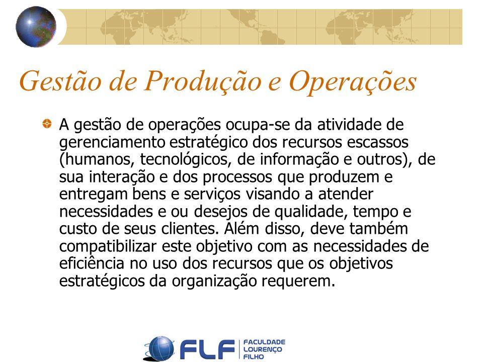 Gestão de Produção e Operações