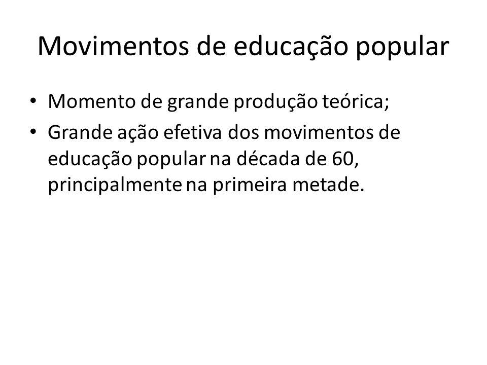 Movimentos de educação popular