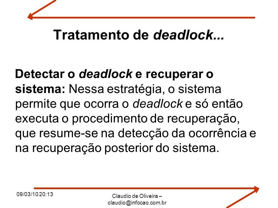 Tratamento de deadlock...