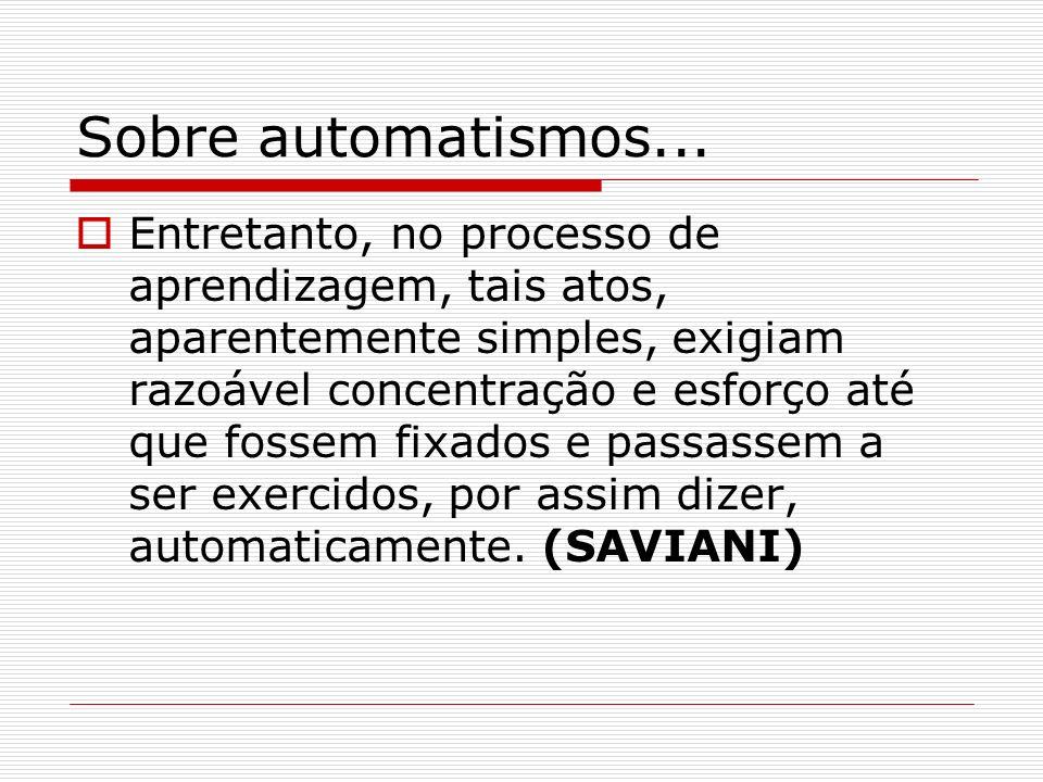 Sobre automatismos...