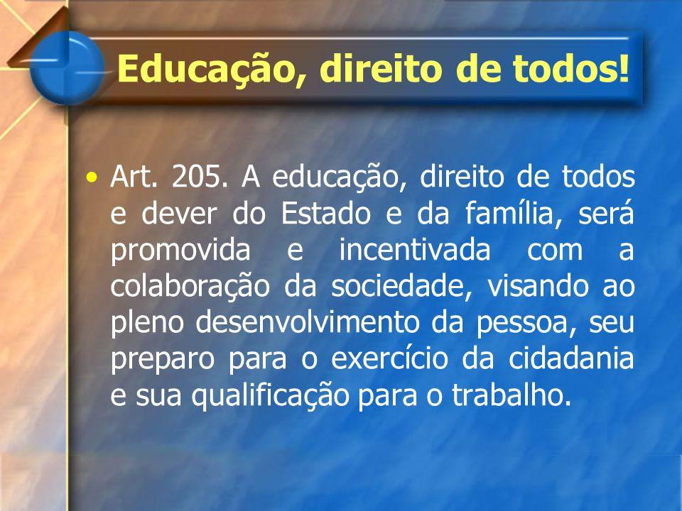Educação, direito de todos!