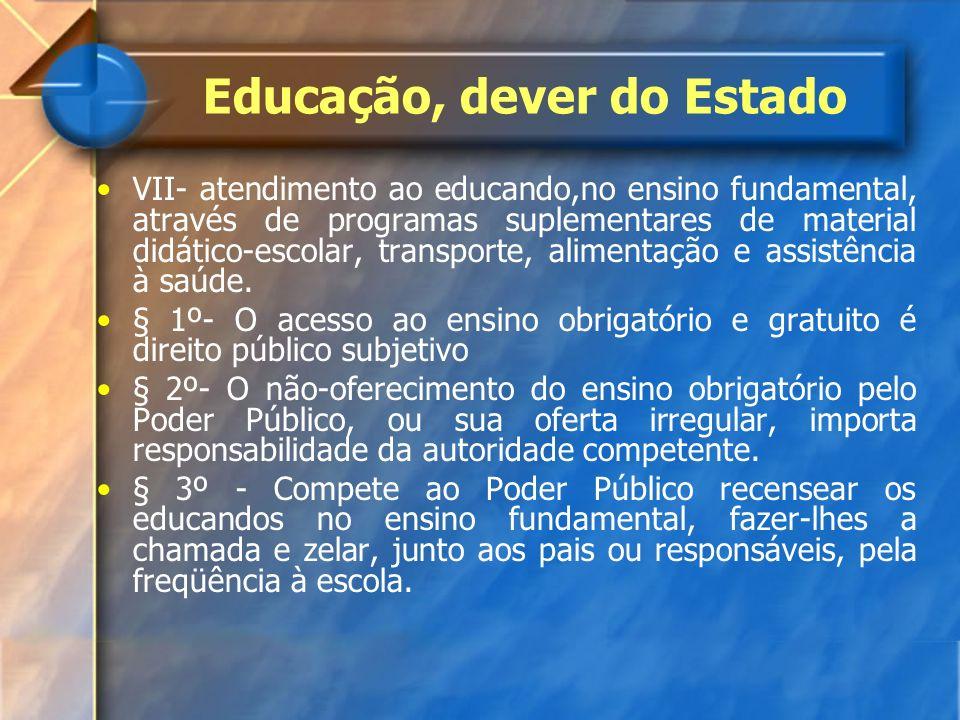 Educação, dever do Estado